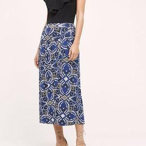 Anthropologie Maeve Cyprus Wrap Midi Skirt Boho